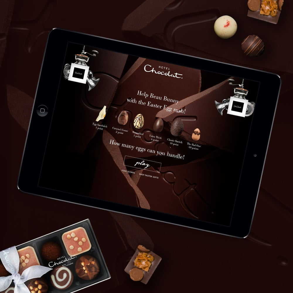 hotel chocolat online game design
