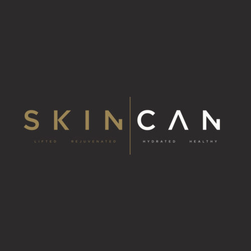 skin can logo design