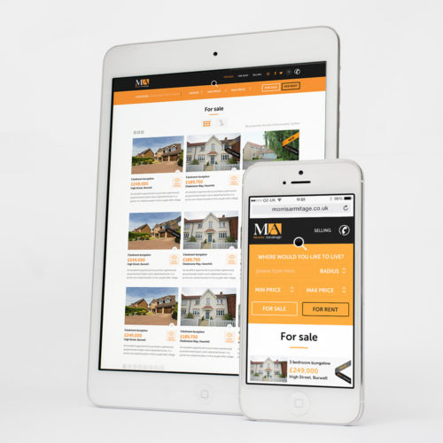 morris armitage website design