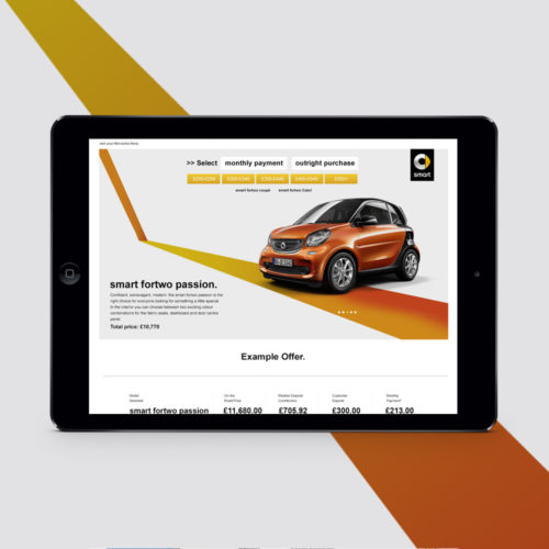 smart car website development