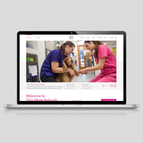 dick white referrals website design