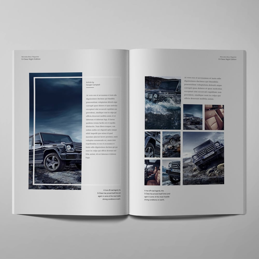 mercedes benz publication design