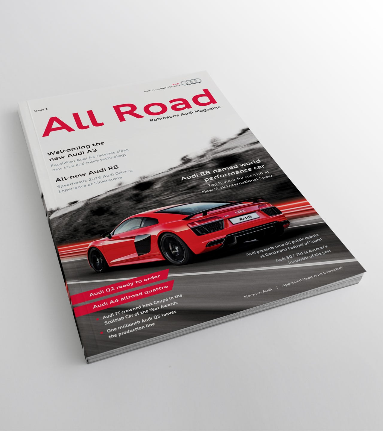 Robinsons audi allroad magazine front cover