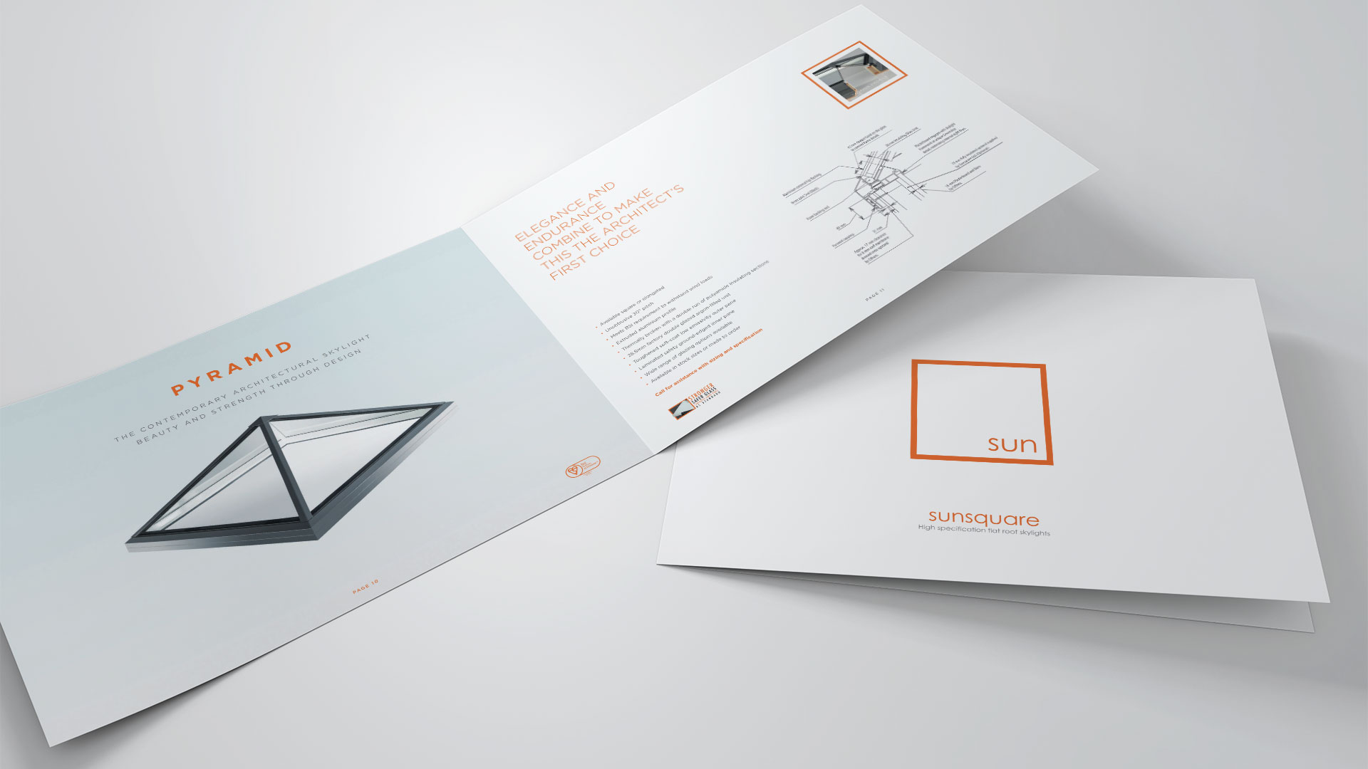 Sun Square A4 Brochure mock-up print design
