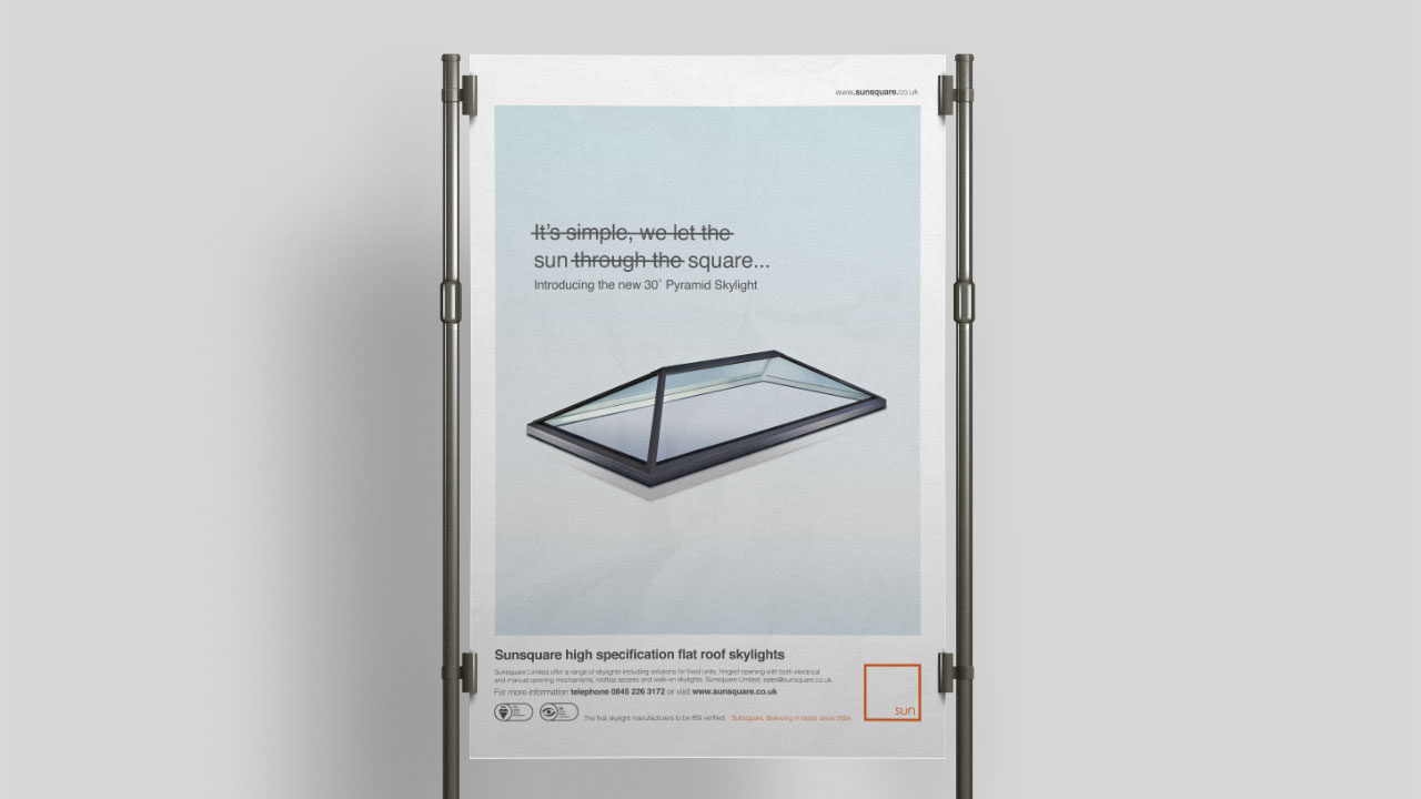 Sun square display mock-up print design