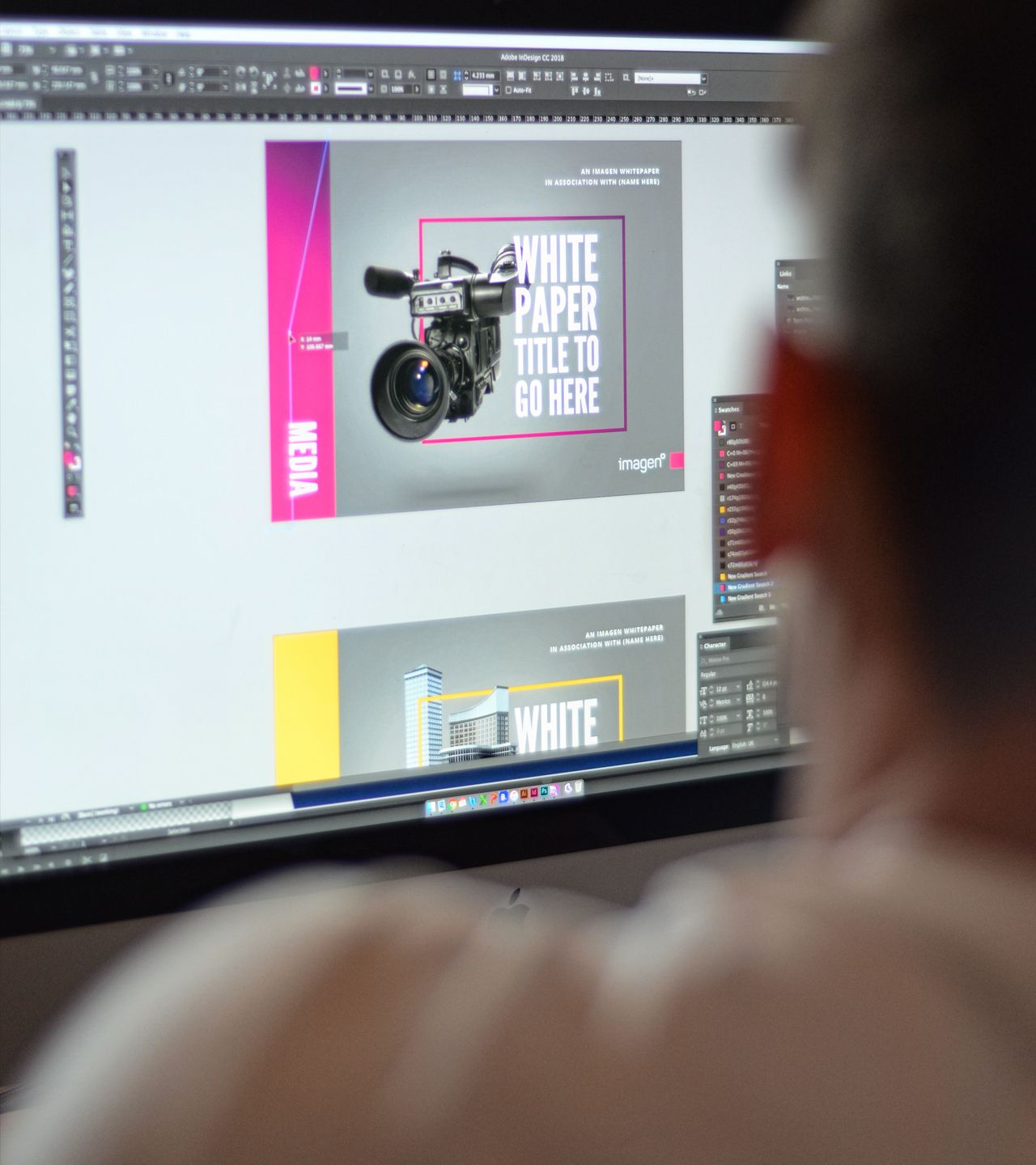 Cubiq design graphic design on screen