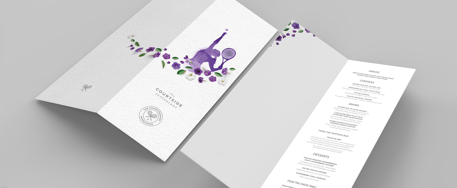 Wimbledon menu design