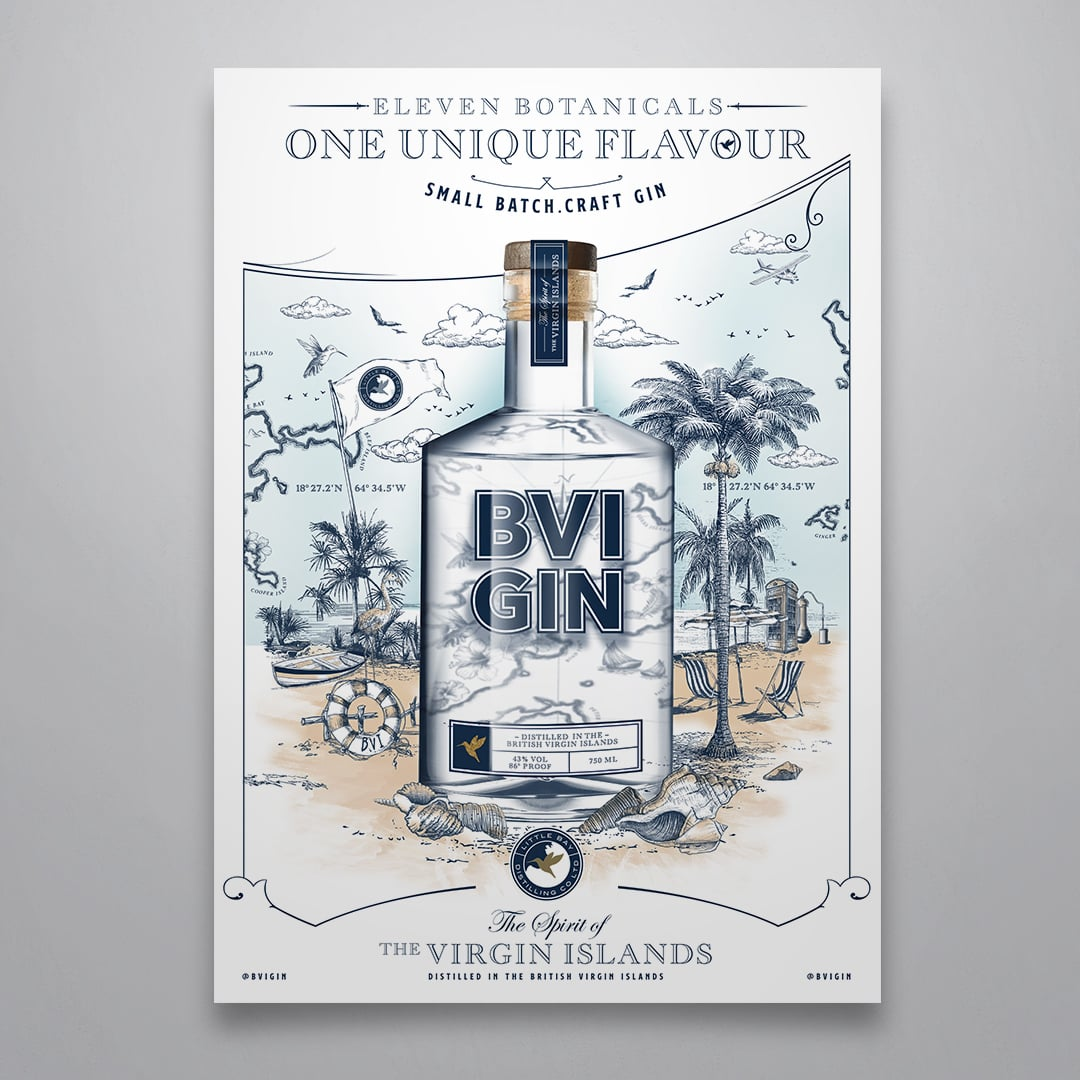 Advertising Campaign BVI Gin